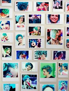 Hayley Williams Paramore blue hair