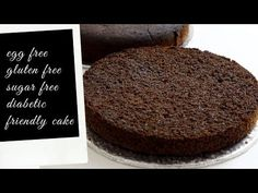 This delicious Diabetic Cake Recipe is a sugar free, gluten free and egg free chocolate cake. A decadent and tasty dessert for everyone! Diabetic Cake Recipes, Cake Recipes At Home, Egg Free Chocolate Cake, Eggless Orange Cake, Baking With Kids, Gluten Free Cakes, Cake Flavors, Sugar Free, Delicious Desserts