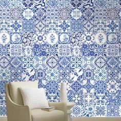 Papel de Parede Adesivo Azulejos Clássicos. Todos aqui >http://goo.gl/8fTBDD