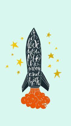 wallpaper, lockscreen, love, space, moon