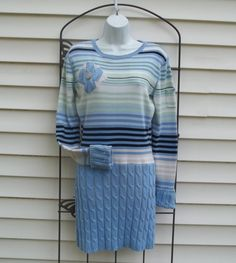 Upcycled altered refashioned sweater dress by AnnieRoseVintage.