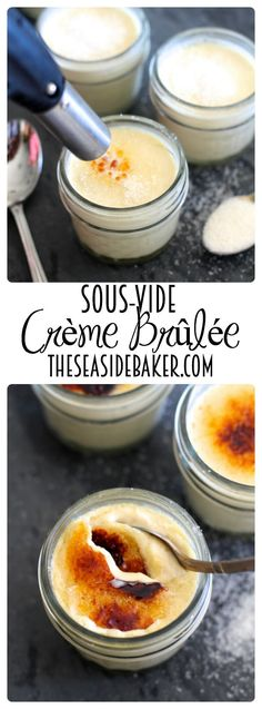 Paris style Creme Brûlée, perfectly creamy custard made using sous-vide. Perfect for Easter and Mother's Day! Paris style Creme Brûlée, perfectly creamy custard made using sous-vide. Perfect for Easter and Mother's Day! Valentine Desserts, Fun Desserts, Dessert Recipes, Baker Recipes, Cupcake Recipes, Dessert Ideas, Creme, Sous Vide Dessert, Low Carb Cheesecake