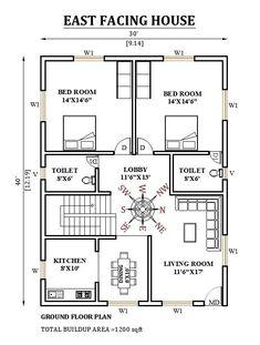 Little House Plans, 2bhk House Plan, Model House Plan, House Layout Plans, Family House Plans, New House Plans, Dream House Plans, Home Plans, Duplex Floor Plans