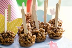 Let the kids help make these crunchy party treats. - who said they can only be for kids...