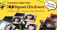New Year 100 Signed KPOP CDs Event!