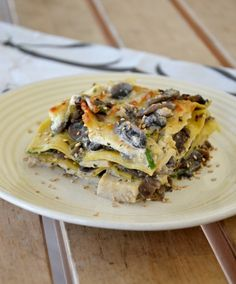 Lasagnette con funghi champignon e tofu
