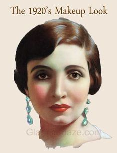 Vintage Hairstyles - Concise illustrated history of Women's Makeup styles and cosmetics. Find out how the flapper look of the Roaring came to be 1920 Makeup, Great Gatsby Makeup, Zulu, Anastasia Beverly Hills, Roaring 20s Makeup, Old Hollywood Makeup, 1920s Makeup Tutorial, Light Blond, Maquillage Goth