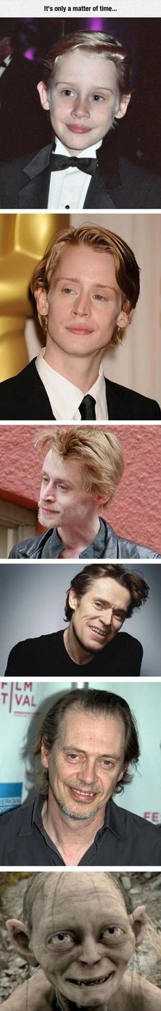 It's only a matter of time! Evolution of the sweet kid from Home Alone, Macauley Culkin to Gollum | Humor | Funny Pics | Laugh out Loud @ Ricky's Turn | (scheduled via http://www.tailwindapp.com?utm_source=pinterest&utm_medium=twpin&utm_content=post112873537&utm_campaign=scheduler_attribution)