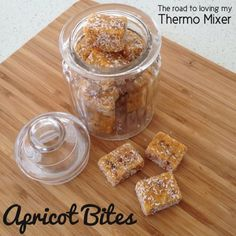 Apricot Bites (Thermomix) 300g dried apricots 50g pitted dates 100g dessicated coconut 2 tablespoons desiccated coconut for coating, optional