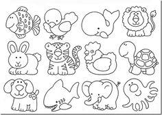 desenhos-moldes-animais-artesanto-eva-feltro-pintura : Revista Artesanato