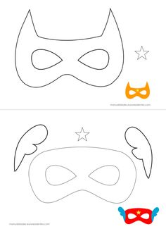 mascaras de superhéroes