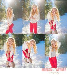 Morgan Werner Senior Photography   Senior in the Snow