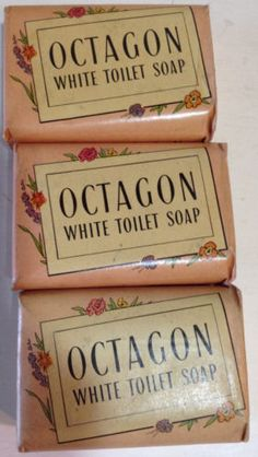Three-bars-OCTAGON-toilet-Hand-Soap-with-coupons-Colgate-Palmolive-Peet-Co-vtg