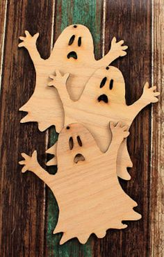 darling Halloween ghost ornaments