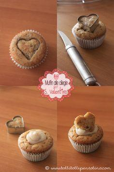 Muffin alle ciliegie per san valentino