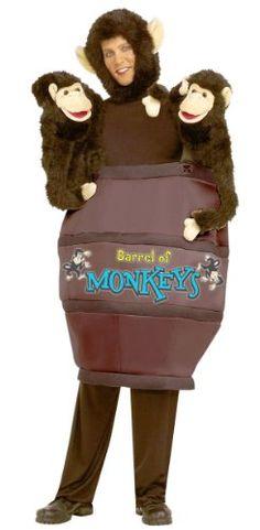 Amazon.com: Barrel Of Monkeys Adult - Standard One Size - Adult Costumes: Clothing