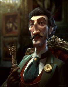 Georges Henri De La Poudrière by Jean-Michel Bihorel   Caricature   3D   CGSociety
