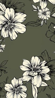 Hibiscus pattern by smileysunday - Hand illustrated floral pattern in orange and mauve on a teal background on fabric, wallpaper, and gift wrap. Bold floral pattern by indie pattern designer smileysunday. Phone Background Patterns, Iphone Background Wallpaper, Flower Wallpaper, Screen Wallpaper, Phone Backgrounds, Pattern Wallpaper, Floral Wallpaper Iphone, Vintage Wallpaper Patterns, Teal Background