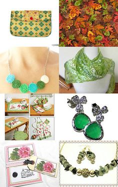 The Many Shades of Green by Susan Harris on Etsy--Pinned with TreasuryPin.com