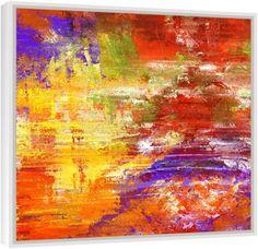 """Quadro Abstrato """"Visão Multicolorida""""  de Carlos Alber — Reprodução em alta definição (gicleé) com pigmento mineral sobre canvas premium e acabamento texturizado."""