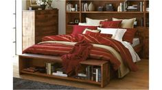 Library Queen Bed - Bedroom Furniture - Bedroom Furniture - Bedroom | Harvey Norman Australia