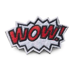R.J. Graziano Wow Patch Pin ($4.50) ❤ liked on Polyvore featuring jewelry, brooches, red, r.j. graziano, pin jewelry, red jewelry, red brooch and r.j. graziano jewelry