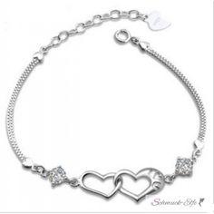 Armband Herz I Love YOU vergoldet mit Zirkonia  im Etui