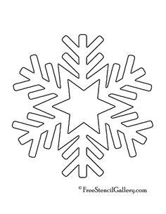 Snowflake Printable Stencils | Snowflake Stencil