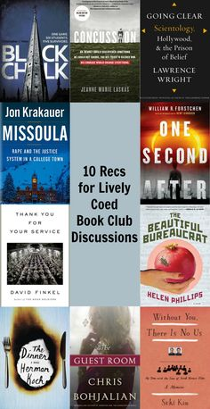 Books that would make enjoyable reading and spark lively discussion for COED book clubs.
