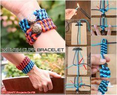 DIY Woven Cuff Bracelet