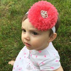 Large Coral Crown Headband
