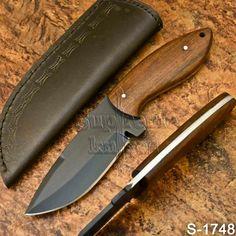Supreme's Hand Made High Carbon Steel Rose wood Skinner Knife-Sheath Knife Sheath, High Carbon Steel, Powder Coating, Rose, Knives, Pink, Roses, Knifes, Knife Making