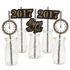 Amazon.com: New Year's Eve - Gold - New Years Eve Party Straw Decor... ($13) ❤ liked on Polyvore featuring celebrate