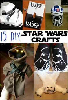 15 DIY Awesome Star Wars Crafts | Super fun craft projects for anyone who loves the original Star Wars trilogy or The Force Awakens! I especially love the Darth Vader shoes!