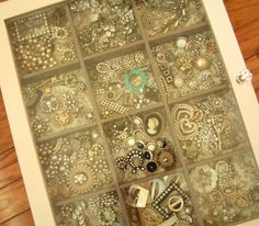 i suspect i am too greedy jewelry-wise to contain things to such a small case.. but i love how it all looks.