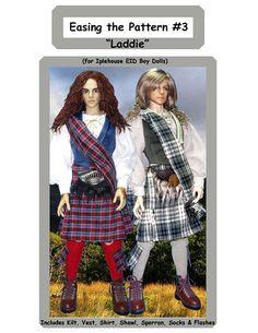"Easing the Pattern #3 - ""Laddie"" Pattern for Iplehouse EID Boy Dolls"