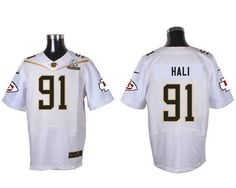 repjerseys.ru Kansas City Chiefs #91 Tamba Hali White 2016 Pro Bowl Nike Elite Jersey