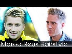 ▶ Soccerplayer haircut - Marco Reus inspired - Bleaching highlights and hair styling - YouTube