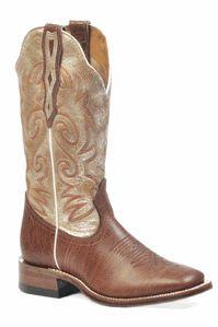 Square Toe Cream Boots