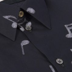Paul Smith Men's Shirts | Black Music Note Print Shirt