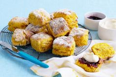 From cakes and scones to biscuits and slices, we've got the recipes guaranteed to bring a smile to your little chef, plus a few frozen treats thrown in for good measure too. Pumpkin Scones, Pumpkin Dessert, Lemonade Scone Recipe, Kimchi Burger, Best Scone Recipe, Baking Scones, Biscuits, Scones Ingredients, Low Calorie Dinners