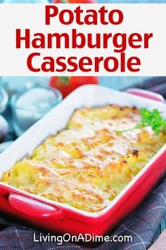 Hamburger Casserole Recipes For Quick And Easy Meals! – – Living on a Dime Easy Hamburger Casserole, Hamburger Recipes, Easy Casserole Recipes, Main Meals, Ground Beef, Entrees, Favorite Recipes, Cooking Recipes, Sloppy Joe
