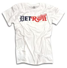 ~ Made In Detroit (Official Brand Clothing) ~ The DETROIT Tigers AND Red Wings TWO in ONE Tee! Official Co-Branded Detroit Tigers and Red Wings shirt. Available exclusively at The Joe Louis Arena and Hockeytown Authentics.