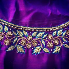 Embroidery Blouses, Embroidery Neck Designs, Beaded Embroidery, Hand Embroidery, Simple Blouse Designs, Bridal Blouse Designs, Simple Designs, Pakistani Clothing, Pakistani Outfits