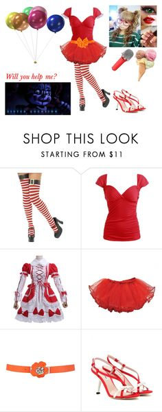 """""""Circus Baby- FNAF: Sister Location"""" by nicoleoliviaberry ❤ liked on Polyvore featuring Wet Seal, La Perla, Miu Miu, Sennheiser and Lord & Taylor"""