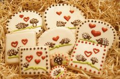 Hand Decorated Hedgehog Love Cookies