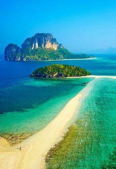 Ko Tub and ko Poda island in Thailand's Krabi province. Ko Tub and ko Poda island in Thailand's Krabi province. Travel the World Beautiful Places To Travel, Beautiful Beaches, Beautiful World, Gorgeous Gorgeous, Dream Vacations, Vacation Spots, Photos Voyages, Beautiful Islands, Thailand Travel