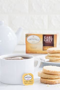 Orange Shortbread Cookies couldn't be easier or more delicious. Delightful and just perfect for dipping and nibbling while you sip any of the new varieties of Twinings Earl Grey tea.