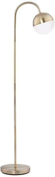 Carlton Antique Brass Glass Globe LED Floor Lamp - #15A06 | Lamps Plus