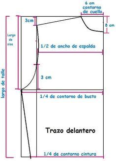 Mi espacio D.I.Y.: Como elaborar el patrón de blusa básica